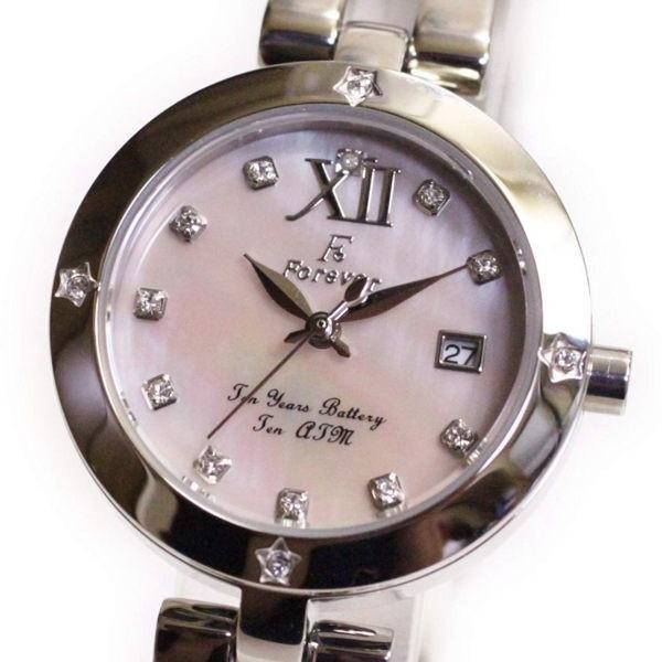 フォーエバー Forever レディス腕時計 ピンクシェル文字盤  ポイントインデックス FL1211-5 ギフト プレゼント 誕生日|zennsannnet|03