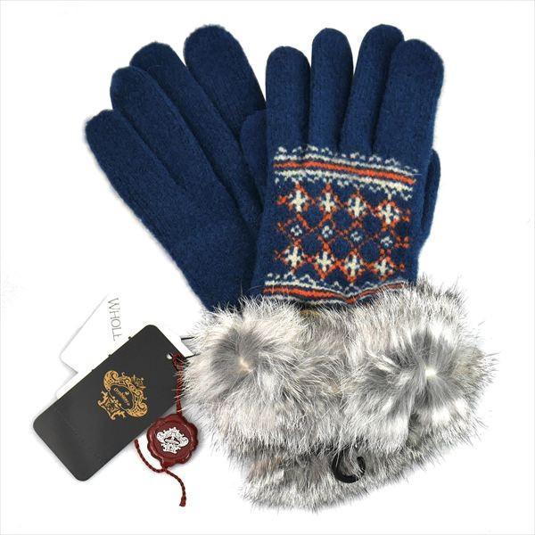 オロビアンコ レディス手袋 日本製 グローブ ラビットファー  ORL-1574 タッチパネル対応 ネイビー ギフト プレゼント 誕生日 クリスマス|zennsannnet|02