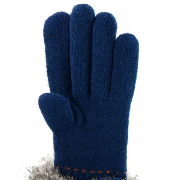 オロビアンコ レディス手袋 日本製 グローブ ラビットファー  ORL-1574 タッチパネル対応 ネイビー ギフト プレゼント 誕生日 クリスマス|zennsannnet|03