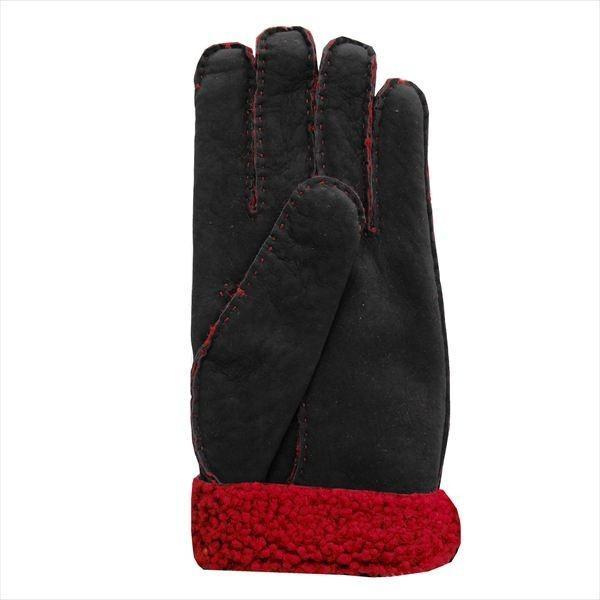 オロビアンコ  メンズ手袋 グローブ ブラック レッド 23cm ムートン イタリー製 ORM-1409 ギフト プレゼント 誕生日 クリスマス|zennsannnet|03