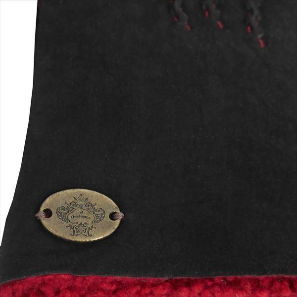 オロビアンコ  メンズ手袋 グローブ ブラック レッド 23cm ムートン イタリー製 ORM-1409 ギフト プレゼント 誕生日 クリスマス|zennsannnet|04