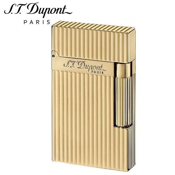 エス・テー・デュポン ST.DUPONT LINE2 ラインツー ヴァーティカルライン イエローゴールド ガスライター 喫煙具 16827 正規品 ギフトプレゼント