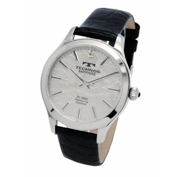 テクノス TECHNOS メンズ腕時計 プラチナ箔文字盤 T1033SS|zennsannnet|02