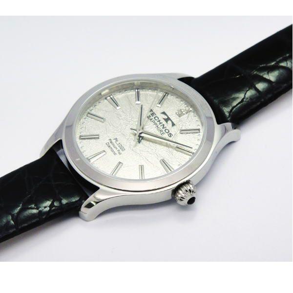 テクノス TECHNOS メンズ腕時計 プラチナ箔文字盤 T1033SS|zennsannnet|04