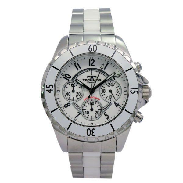 テクノス TECHNOS メンズ腕時計 100m防水 クロノグラフ T3032TW|zennsannnet