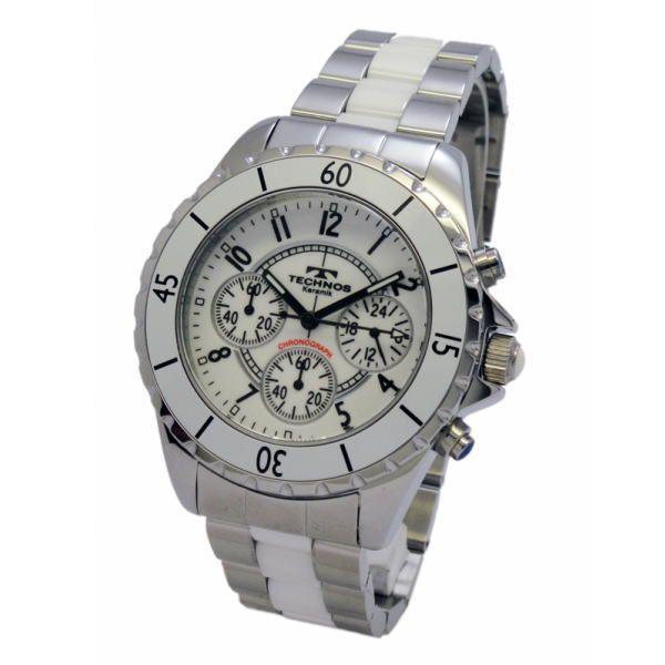 テクノス TECHNOS メンズ腕時計 100m防水 クロノグラフ T3032TW|zennsannnet|02