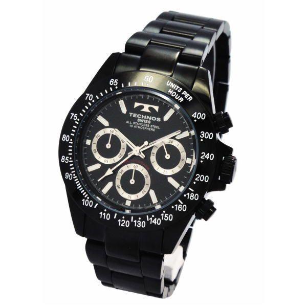 テクノス TECHNOS メンズ腕時計 100m防水仕様 クロノグラフ TGM615-BB zennsannnet