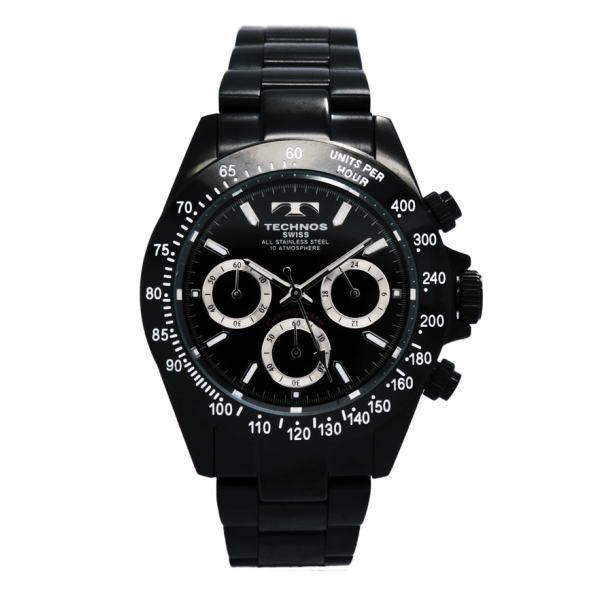 テクノス TECHNOS メンズ腕時計 100m防水仕様 クロノグラフ TGM615-BB zennsannnet 02