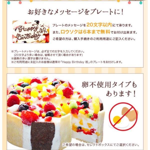 誕生日 バースデー アイスケーキ フローズンフルーツと生乳アイスクリームのアイスデコレーションケーキ 6号|zenzaemon|06