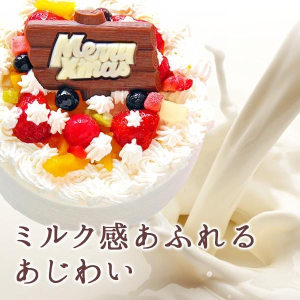 クリスマス限定 生クリームのデコレーションケーキ5号 xmascake 選べるフルーツ ショートケーキ zenzaemon 03