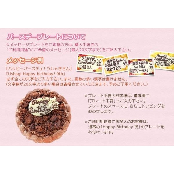 誕生日ケーキ バースデーケーキ チョコレートのアイスクリームデコレーションケーキ 4号 アイスケーキ 洋菓子|zenzaemon|04