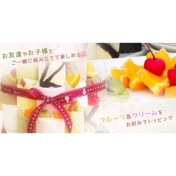 誕生日ケーキ バースデー パーティー 積み上げて楽しい ロールケーキタワー(キャンドル付き) お取り寄せ|zenzaemon|02