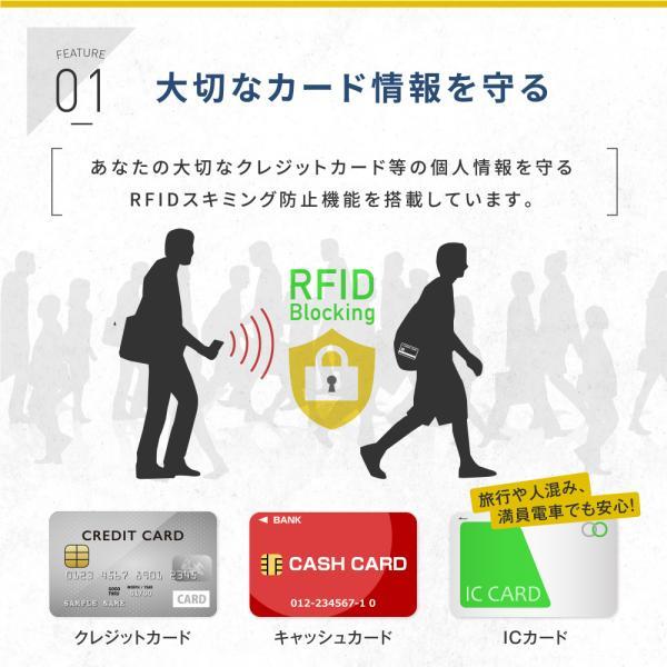 カードケース スリム スキミング防止 RFID 磁気 メンズ レディース マネークリップ 磁気防止 薄型スライド式 アルミ レディース カード入れ|zepirion|04