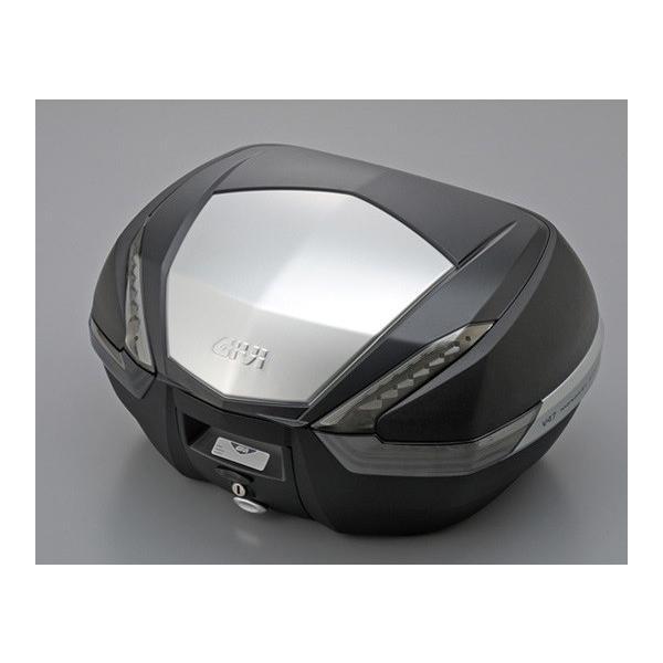 【セール特価】モノキーケース トップケース V47N TECH 未塗装ブラック(アルミパネル) 47リットル GIVI(ジビ)|zerocustom