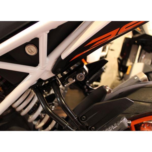 KTM 125DUKE(17年) ヘルメットロック ブラック KIJIMA(キジマ) zerocustom