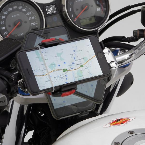 【あすつく対象】バイク用スマートフォンホルダーWIDE(iPhone5・6・6Plus・7・7Plus・8・8plus・X対応)リジットタイプ iH-550D DAYTONA(デイトナ)|zerocustom|03