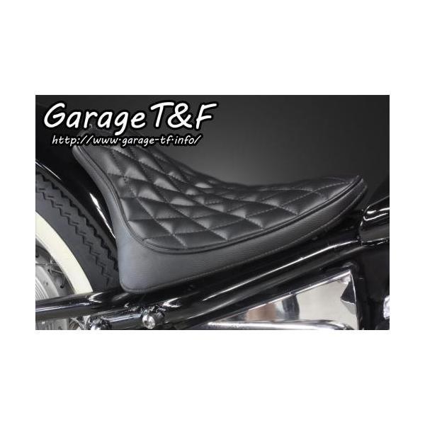 ドラッグスター400/クラシック(DRAGSTAR) フラットフェンダー専用シングルシート(ダイヤ) ガレージT&F|zerocustom|02