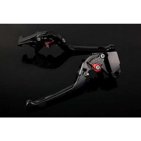 KTM 1190 RC8/R '09〜'16 可倒式アジャストレバーセット 3D レバー:ブラック   SSK(エスエスケー)|zerocustom