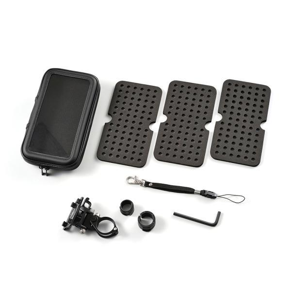 バイク用スマートフォンケース XLサイズ リジット式(ボルト留めタイプ) DAYTONA(デイトナ) zerocustom