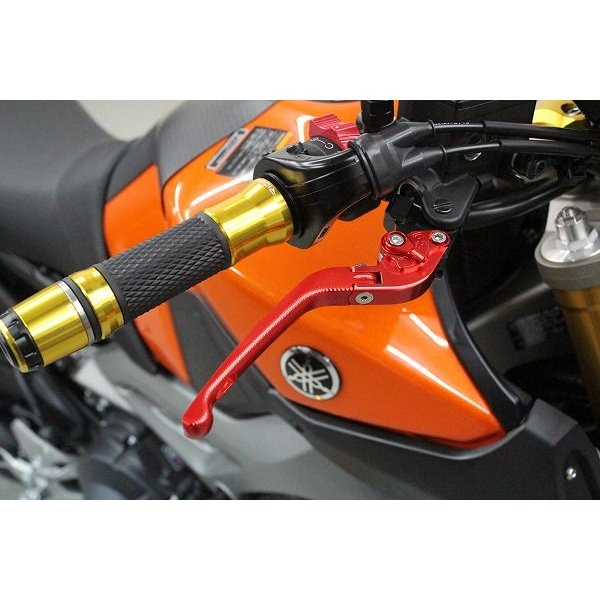 KTM 690DUKE '08〜'11 可倒式アジャストレバーセット 3D レバー:レッド   SSK(エスエスケー) zerocustom 02