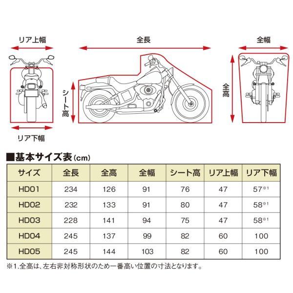 ブラックカバー ハーレー専用 HD02 バイクカバー DAYTONA(デイトナ)|zerocustom|03