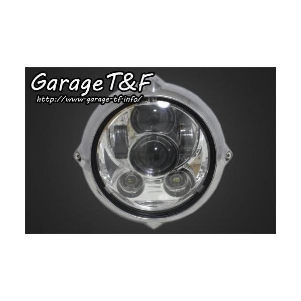 イントルーダー400クラシック 5.75インチビンテージヘッドライト(ポリッシュ)プロジェクターLED仕様&ライトステー(タイプB)KIT ガレージT&F|zerocustom|02