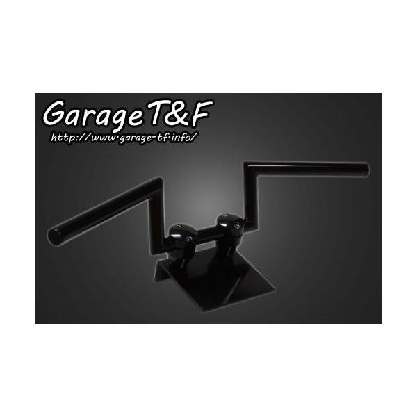ドラッグスター400/クラシック(DRAGSTAR) ロボットハンドル(Ver1)4インチ(ブラック)25.4mm ガレージT&F|zerocustom