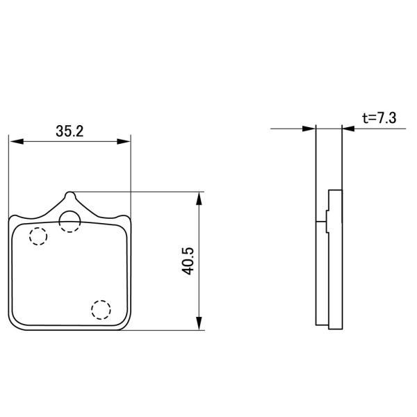 【セール特価】DUCATI S4R S(06〜08年) ゴールデンパッドχ(ブレーキパッド)フロント用 DAYTONA(デイトナ)|zerocustom|02