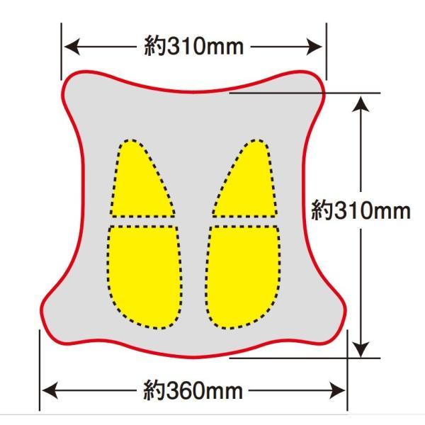【あすつく対象】ゲルザブR(GEL-ZAB R)ゲル内蔵クッション (表皮改良版)310/360×310mm EFFEX(エフェックス)|zerocustom|04