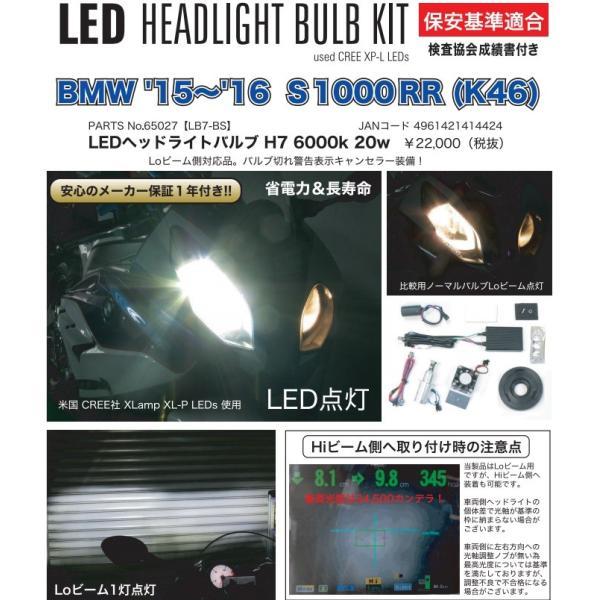 BMW S1000RR(15〜16年) LEDヘッドライトバルブKIT H7 6000k 20w(Loビーム側用) PROTEC(プロテック)|zerocustom|06