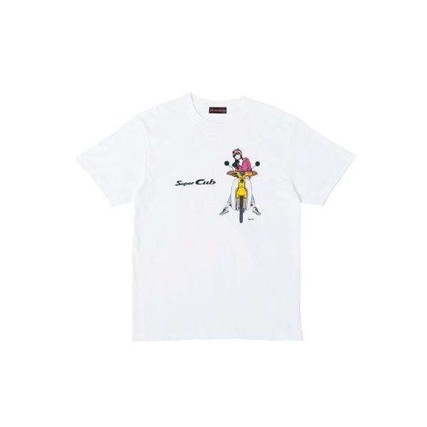 SUPER CUB イラスト T-シャツ Bタイプ Lサイズ HONDA(ホンダ)|zerocustom