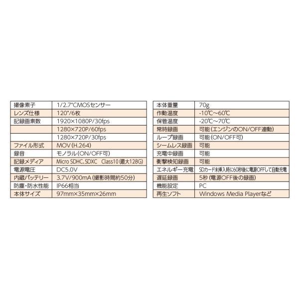 【あすつく対象】バイク専用ドライブレコーダー DDR-S100 DAYTONA(デイトナ)|zerocustom|05