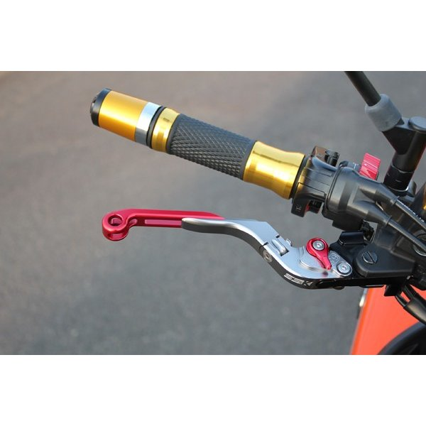 KTM 125DUKE 可倒延長式アジャストレバーセット レバー:ブラック アジャスター:ゴールド SSK(エスエスケー)|zerocustom|03