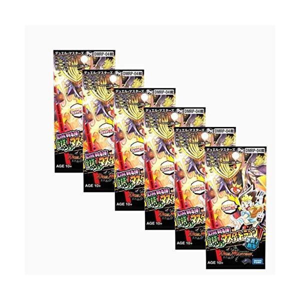 DMRP-04裁 デュエル・マスターズTCG デュエル・マスターズ 拡張パック新4弾 誕ジョー! マスター・ドラゴン!! 〜正義ノ裁キ〜(6パックセット) 新品商品