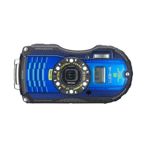 RICOH 防水デジタルカメラ RICOH WG-4GPS ブルー 防水14m耐ショック2.0m耐寒-10度 RICOH WG-4GPSBL 08558 中古品 アウトレット