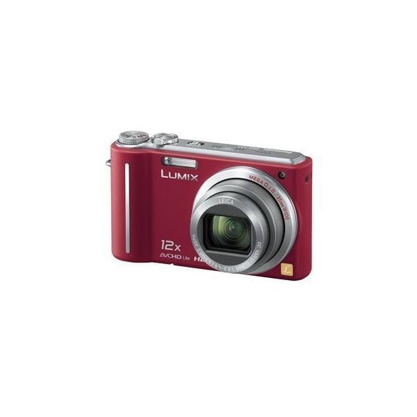 パナソニック デジタルカメラ LUMIX1010万画素 光学12倍ズーム(レッド)DMCTZ7R DMC-TZ7-R 中古商品