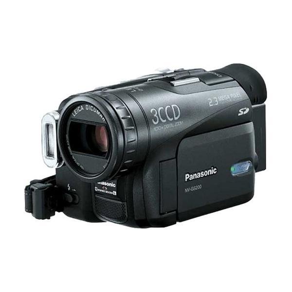 パナソニック NV-GS200K-K デジタルビデオカメラ ブラック 中古商品
