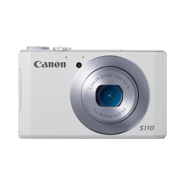 Canon デジタルカメラ PowerShot S110 約1210万画素 F2.0 光学5倍ズーム ホワイト PSS110(WH) 中古商品