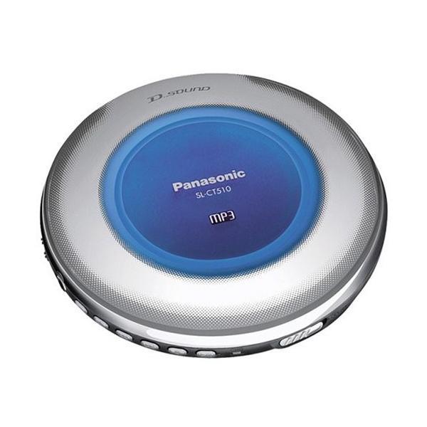 パナソニックポータブルCDプレーヤーブルーSL-CT510-A中古商品