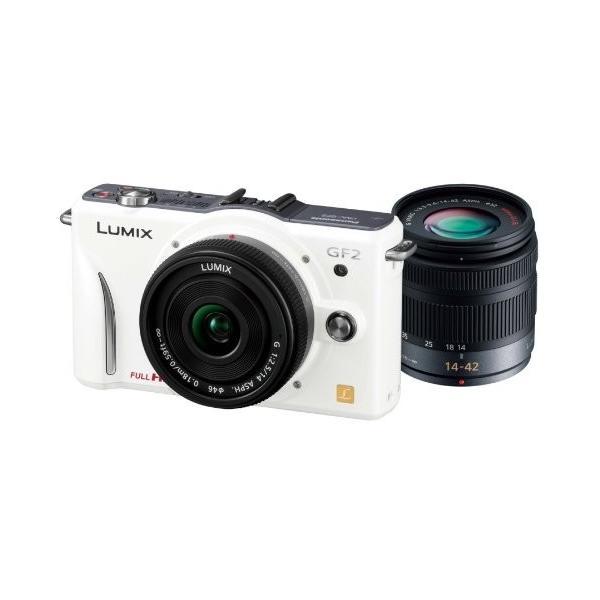 パナソニック ミラーレス一眼カメラ GF2 ダブルレンズキット(14mm/F2.5パンケーキレンズ、14-42mm/F3.5-5.6標準ズームレンズ付属) フルハイビジョンムービー一眼