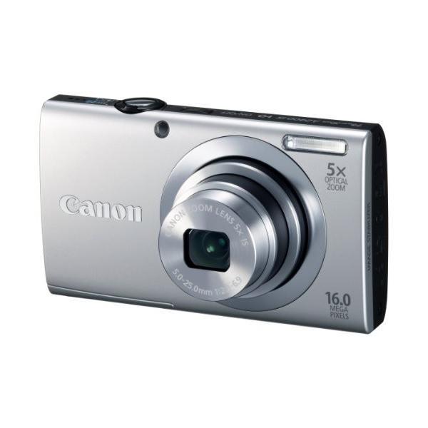 Canon デジタルカメラ PowerShot A2400IS シルバー 1600万画素 光学5倍ズーム PSA2400IS(SL) 中古商品