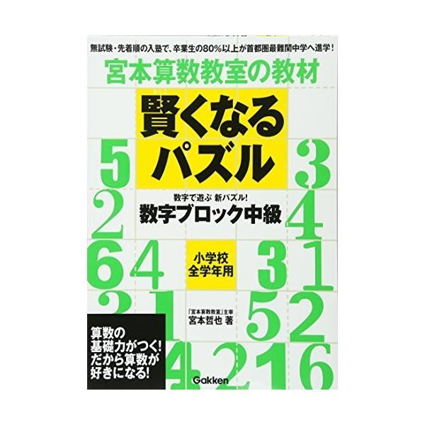 賢くなるパズル 数字ブロック 中級 (宮本算数教室の教材) 中古書籍