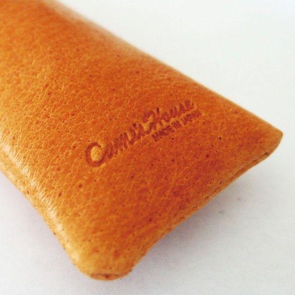 本革ペンケース ラセッテー×絹 日本製「CAME's House」 茶色 全2種|zeus-japan|05