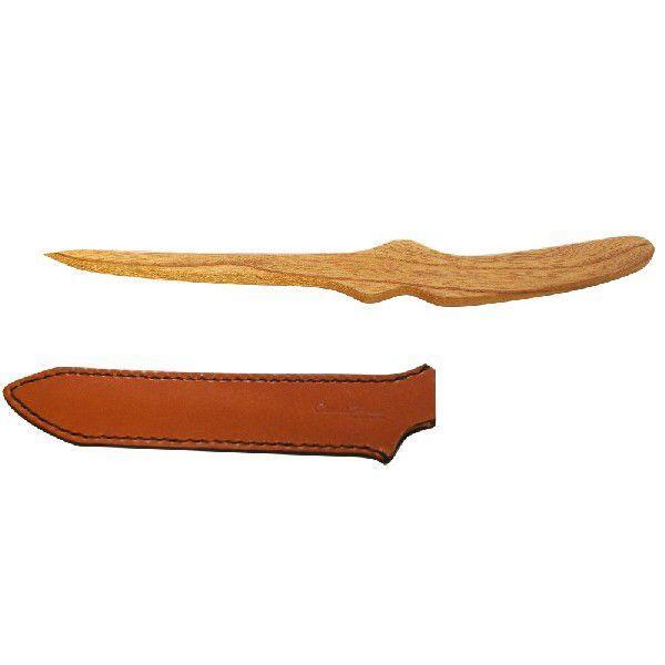 木製ペーパーナイフ 弐型 栃木レザー 日本製「CAME's House」 本革製ナイフケース付  全3色|zeus-japan|03