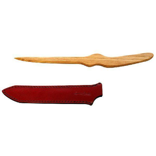 木製ペーパーナイフ 弐型 栃木レザー 日本製「CAME's House」 本革製ナイフケース付  全3色|zeus-japan|04