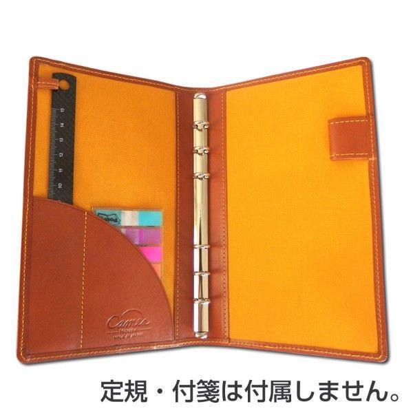 システム手帳 スリムバイブルサイズ 日本製「CAME's House」 栃木レザー ブラウン 「軽くて薄い!」「カメズハウス」|zeus-japan|06