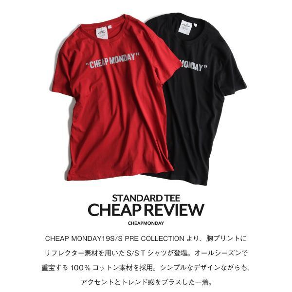 Tシャツ メンズ カットソー 半袖 クルーネック ロゴ プリント レッド ブラック CHEAP MONDAY ファッション (0634791)|zip|04
