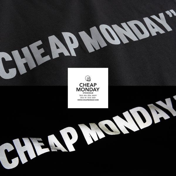 Tシャツ メンズ カットソー 半袖 クルーネック ロゴ プリント レッド ブラック CHEAP MONDAY ファッション (0634791)|zip|05