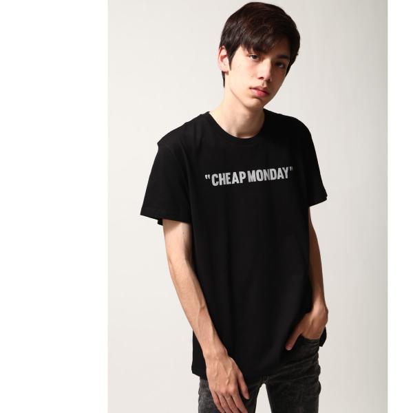 Tシャツ メンズ カットソー 半袖 クルーネック ロゴ プリント レッド ブラック CHEAP MONDAY ファッション (0634791)|zip|08