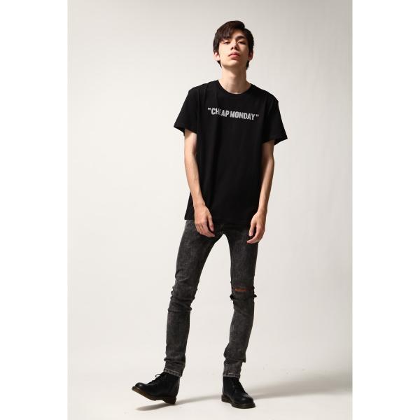Tシャツ メンズ カットソー 半袖 クルーネック ロゴ プリント レッド ブラック CHEAP MONDAY ファッション (0634791)|zip|09